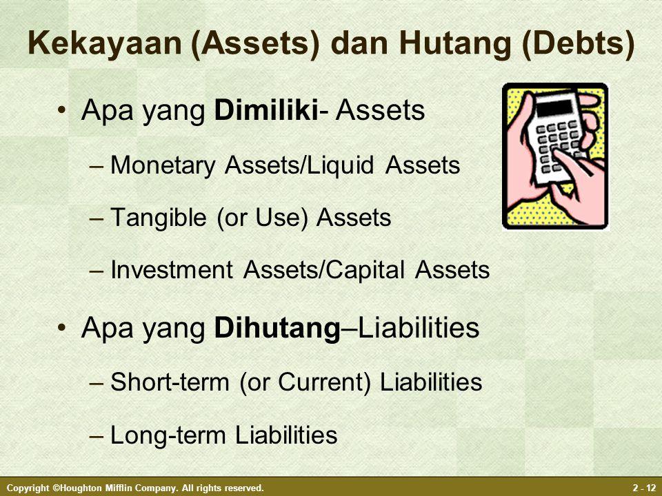 Kekayaan (Assets) dan Hutang (Debts)