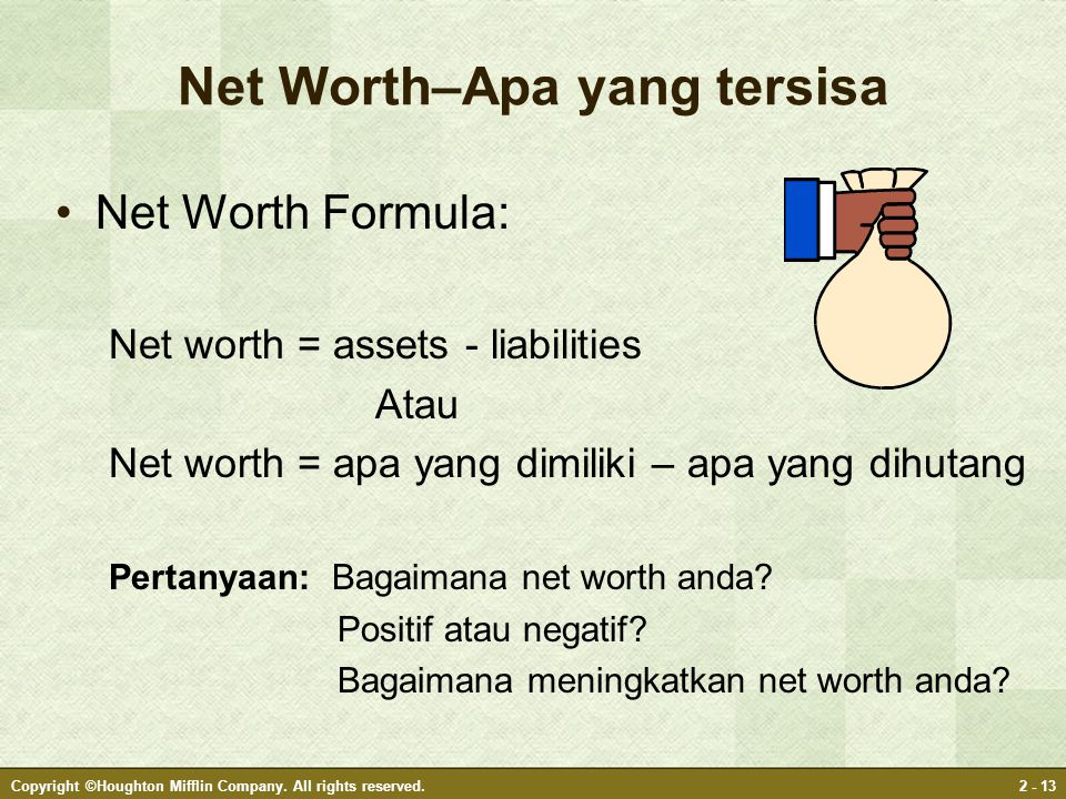 Net Worth–Apa yang tersisa