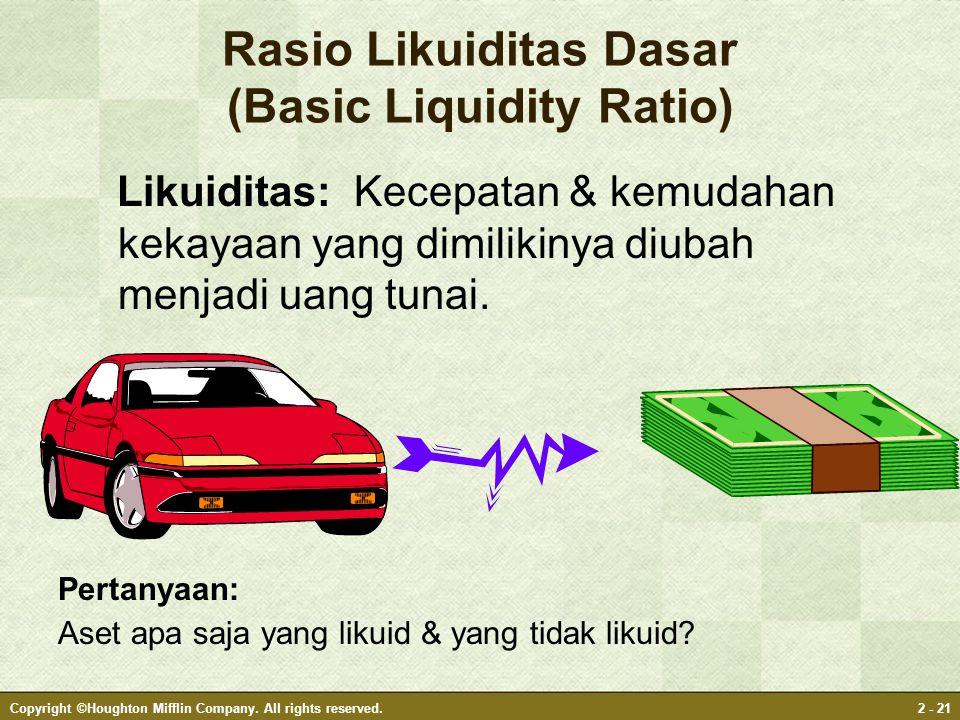 Rasio Likuiditas Dasar (Basic Liquidity Ratio)