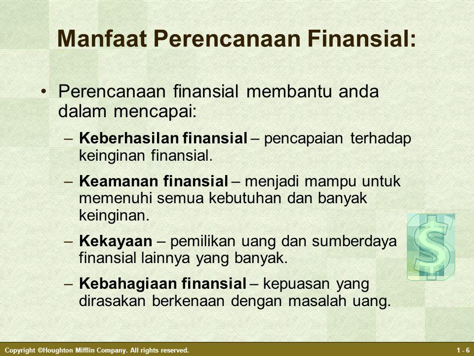 Manfaat Perencanaan Finansial: