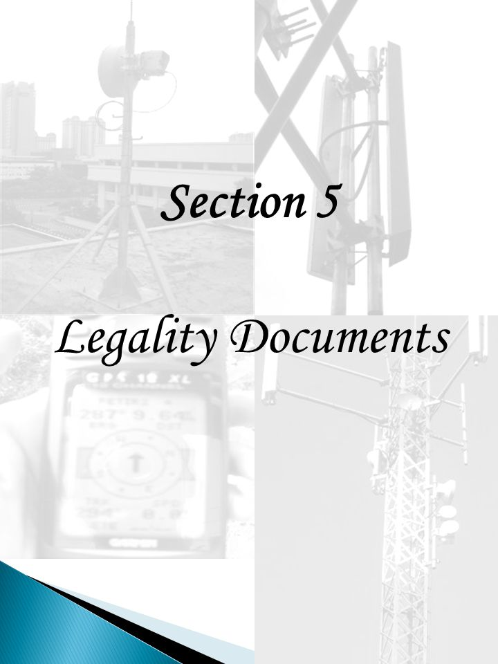 Section 5 Legality Documents