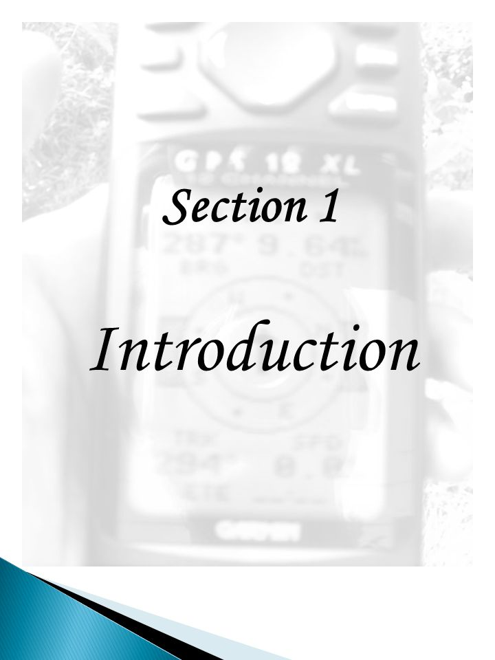 Section 1 Introduction