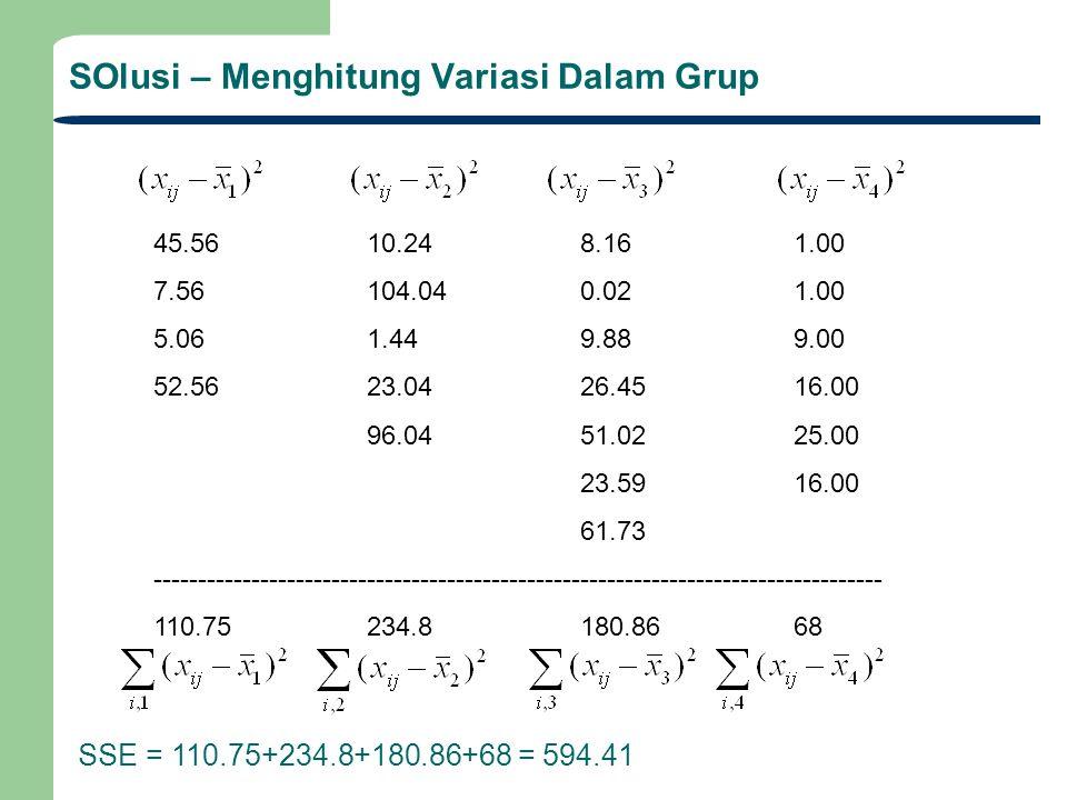 SOlusi – Menghitung Variasi Dalam Grup
