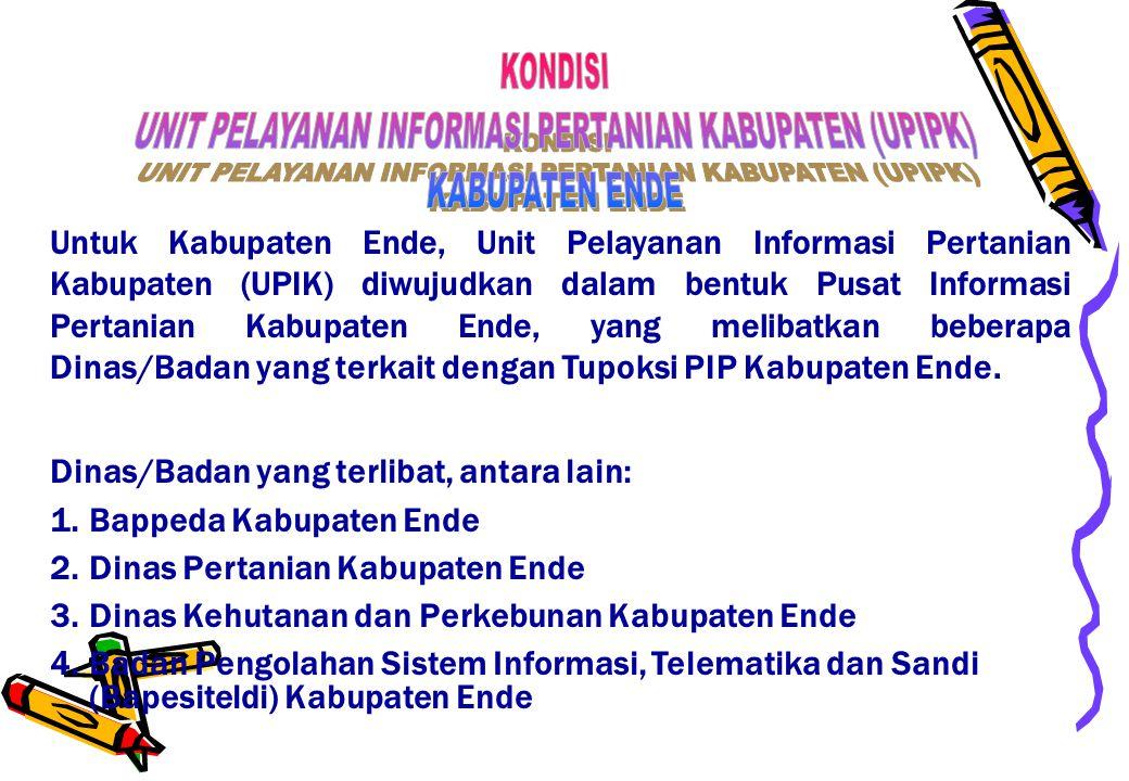 UNIT PELAYANAN INFORMASI PERTANIAN KABUPATEN (UPIPK)
