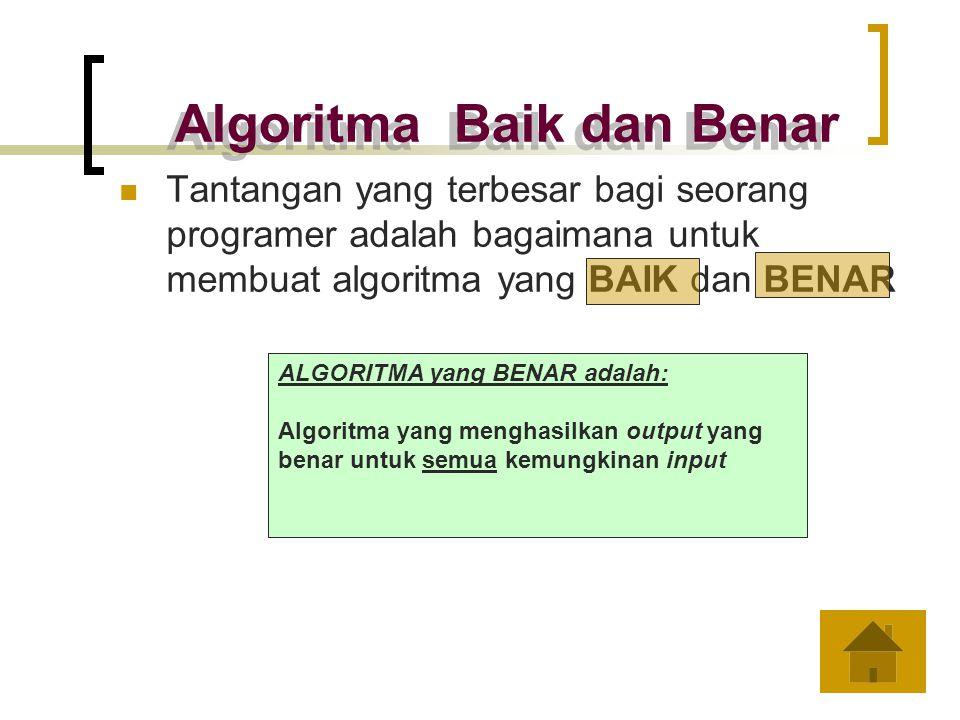 Algoritma Baik dan Benar