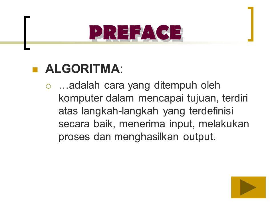 PREFACE ALGORITMA: