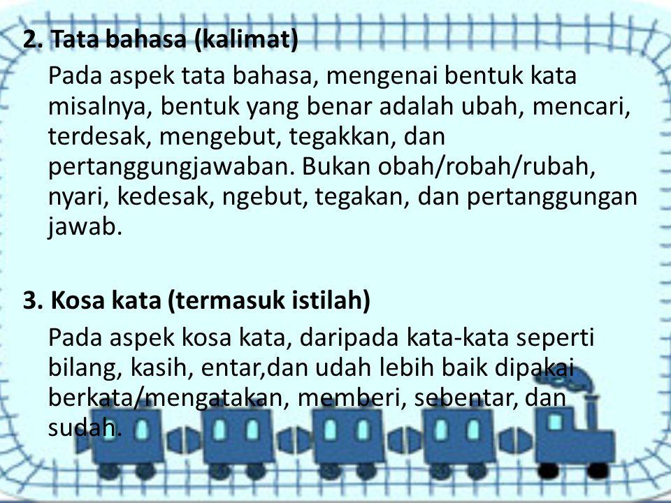 2. Tata bahasa (kalimat)