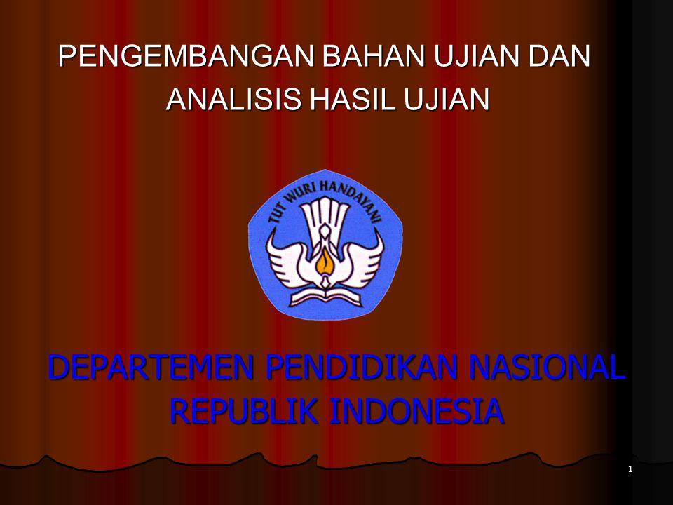 DEPARTEMEN PENDIDIKAN NASIONAL REPUBLIK INDONESIA