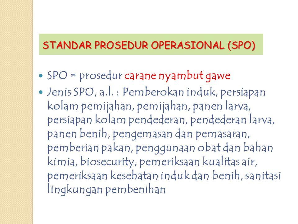 SPO = prosedur carane nyambut gawe