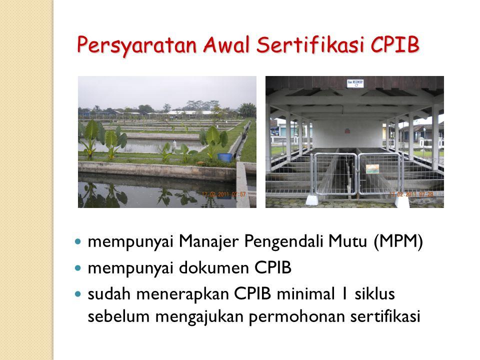 Persyaratan Awal Sertifikasi CPIB