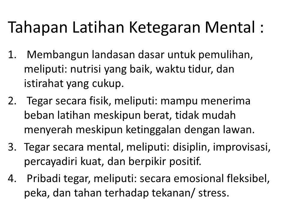 Tahapan Latihan Ketegaran Mental :