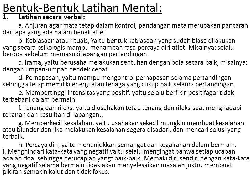 Bentuk-Bentuk Latihan Mental: