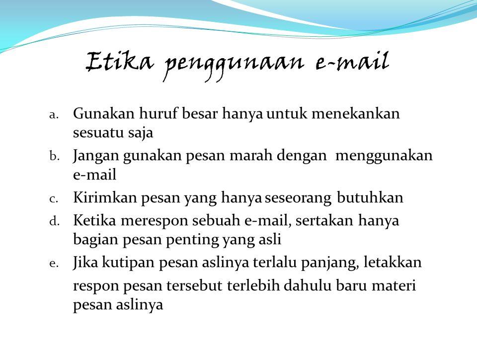 Etika penggunaan e-mail