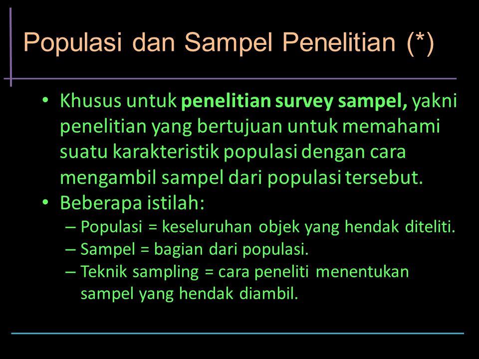 Populasi dan Sampel Penelitian (*)