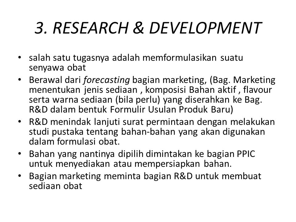 3. RESEARCH & DEVELOPMENT