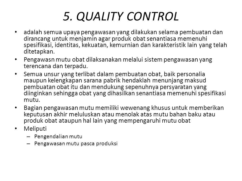 5. QUALITY CONTROL