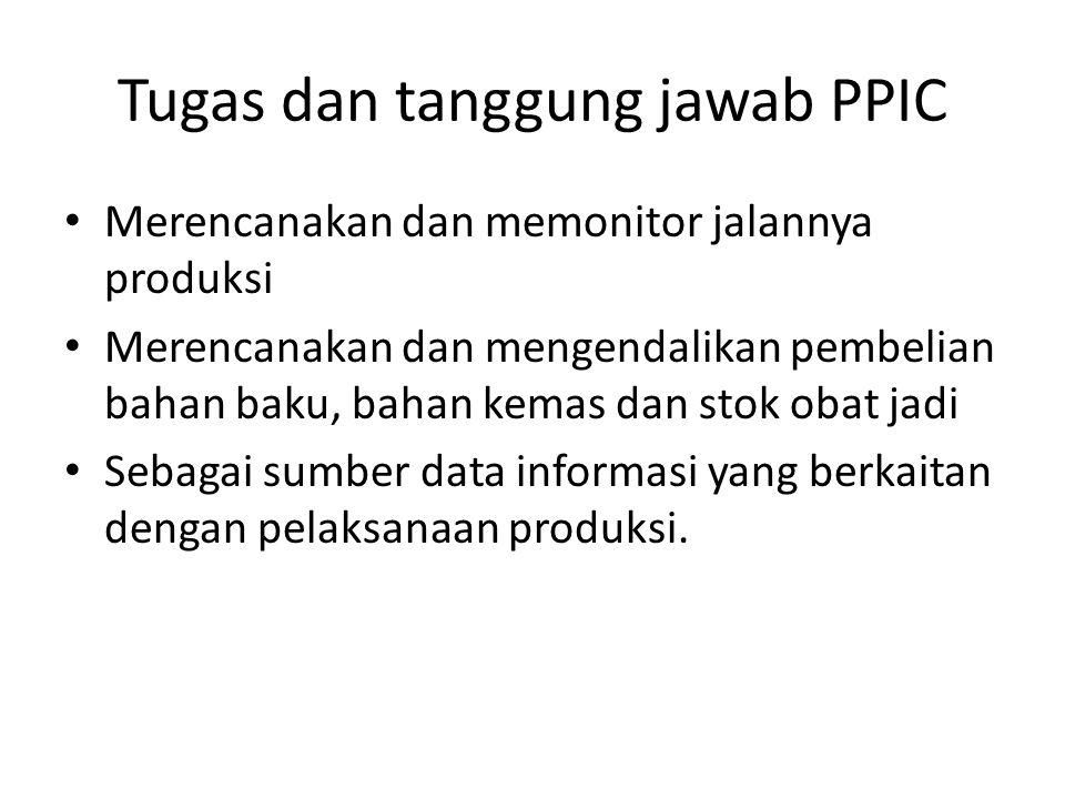 Tugas dan tanggung jawab PPIC