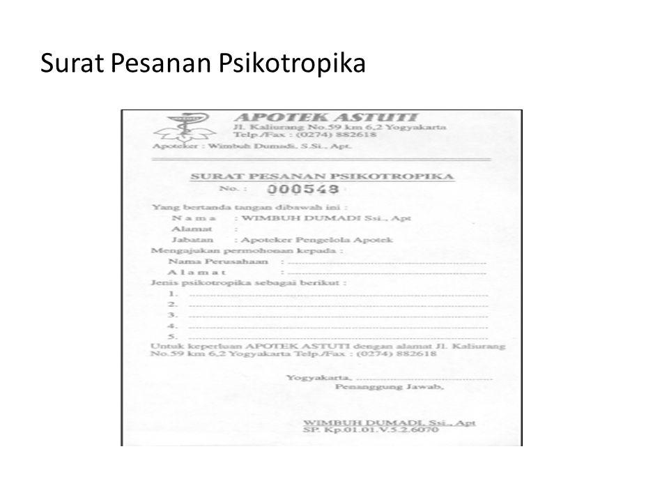 Surat Pesanan Psikotropika