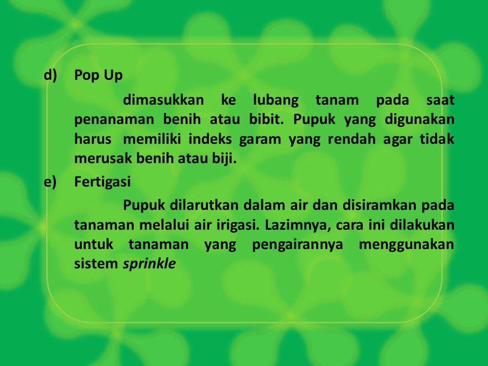 d) Pop Up