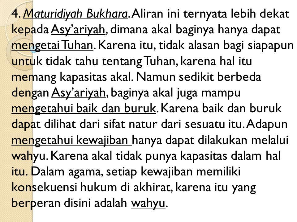 4. Maturidiyah Bukhara.