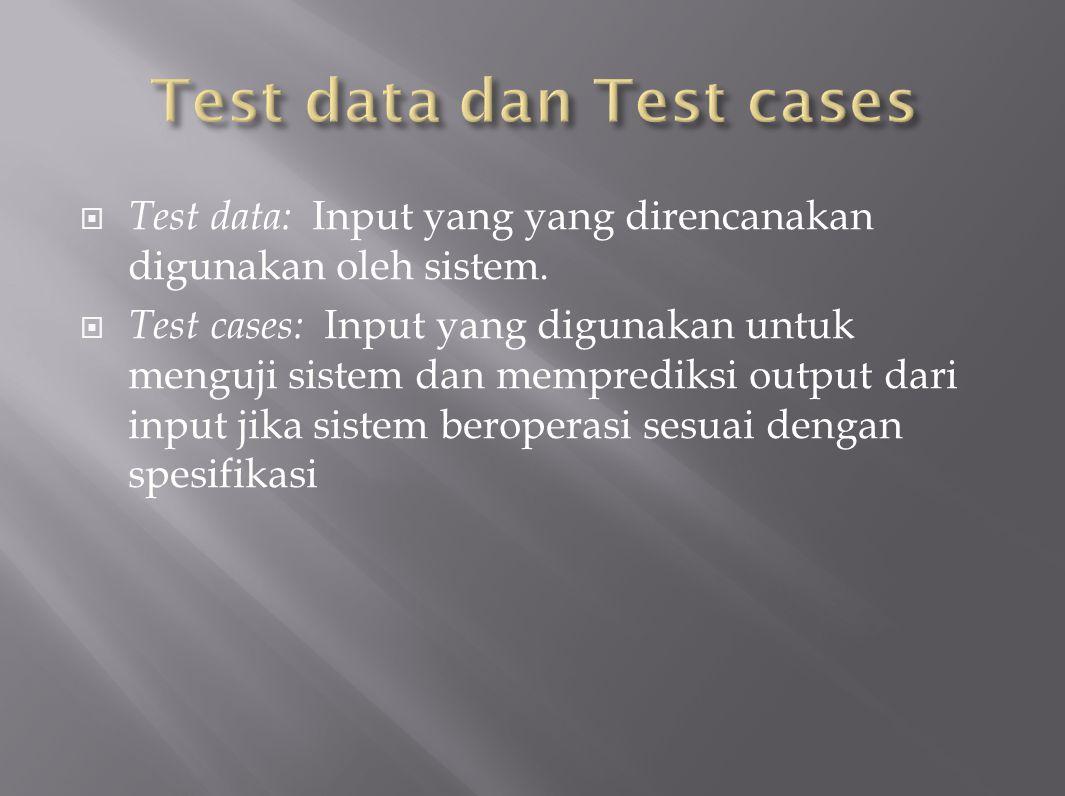 Test data dan Test cases