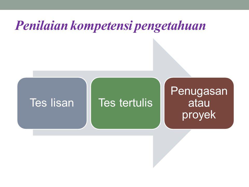 Penilaian kompetensi pengetahuan