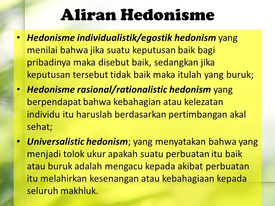 Aliran Hedonisme
