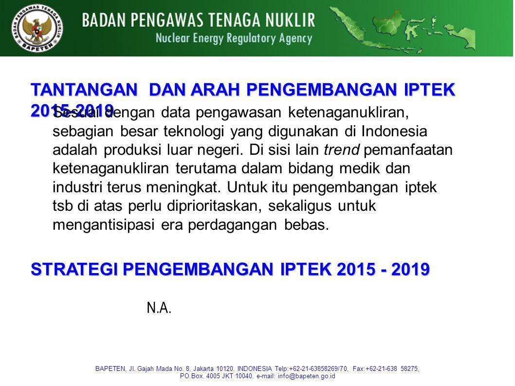 TANTANGAN DAN ARAH PENGEMBANGAN IPTEK 2015-2019