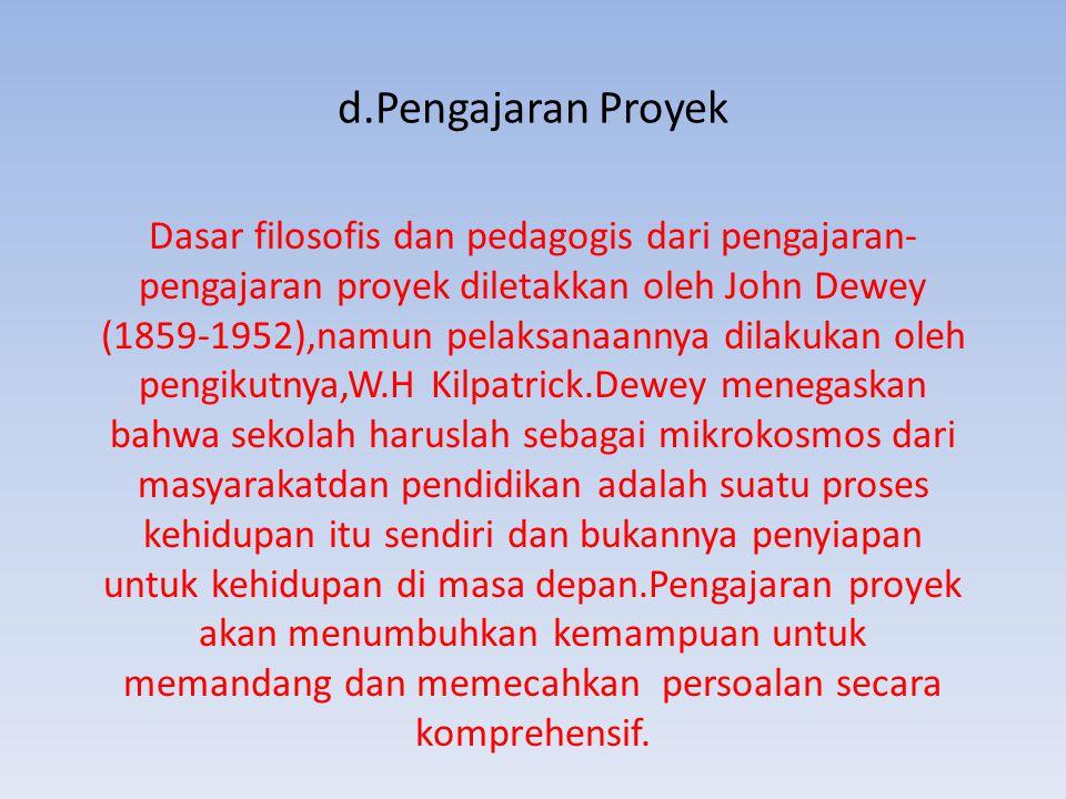 d.Pengajaran Proyek