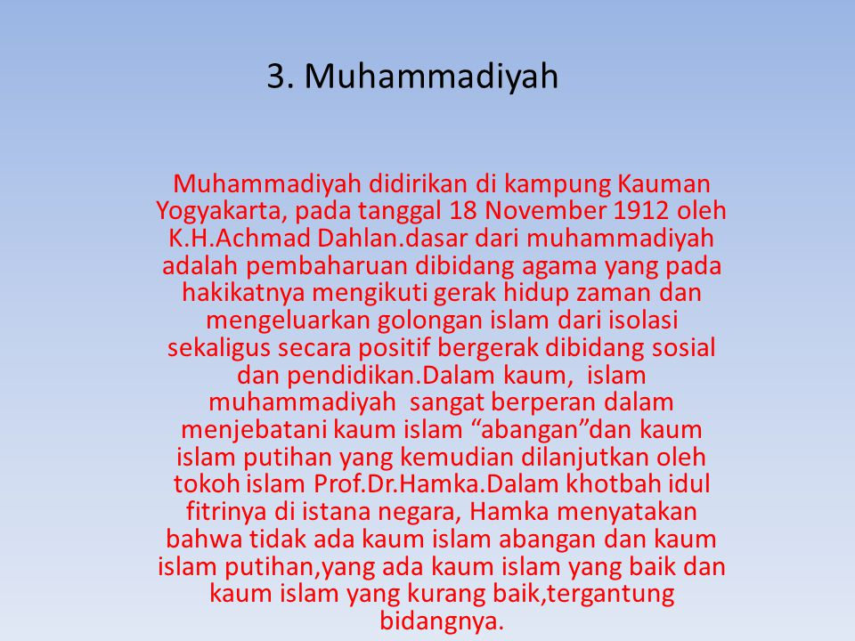 3. Muhammadiyah