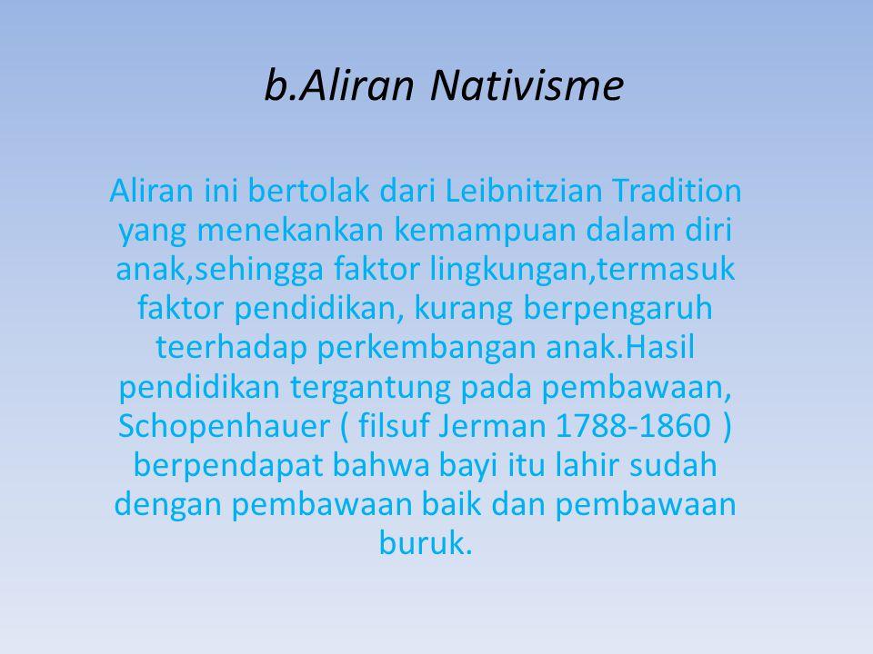 b.Aliran Nativisme