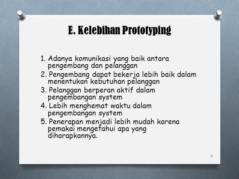 E. Kelebihan Prototyping