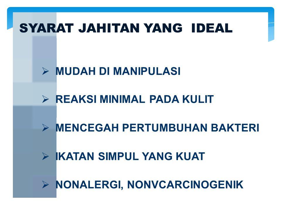 SYARAT JAHITAN YANG IDEAL