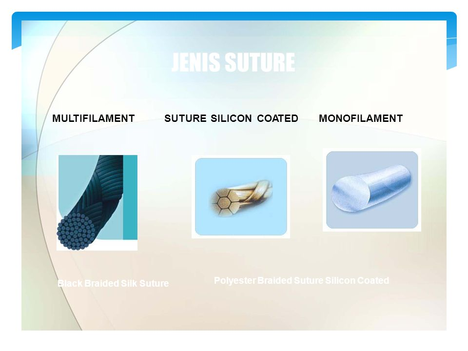 JENIS SUTURE MULTIFILAMENT SUTURE SILICON COATED MONOFILAMENT