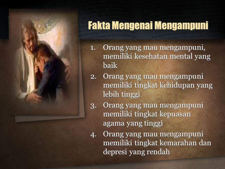 Fakta Mengenai Mengampuni