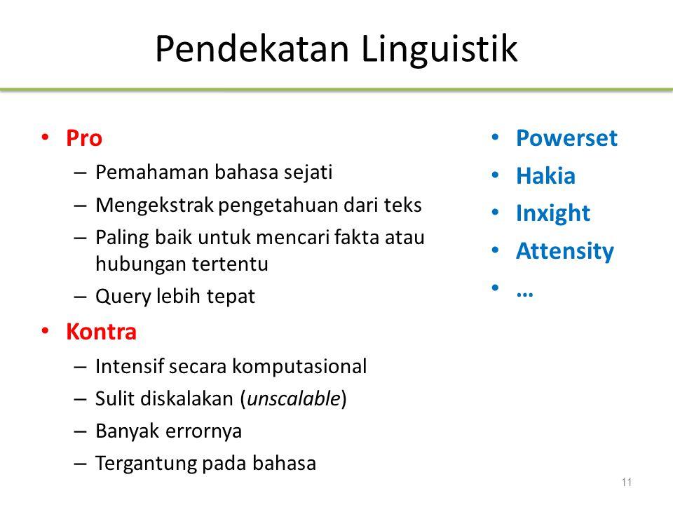 Pendekatan Linguistik