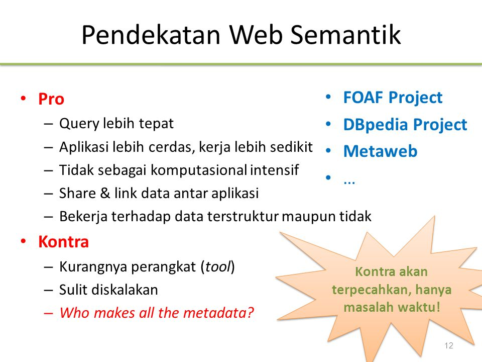 Pendekatan Web Semantik