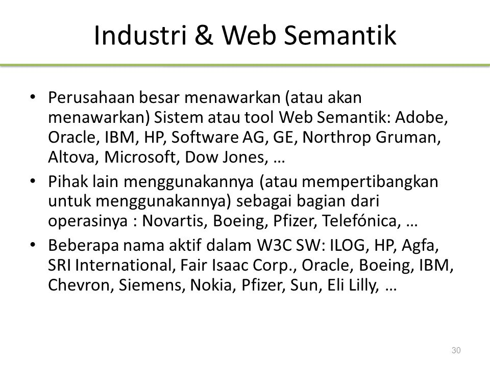 Industri & Web Semantik