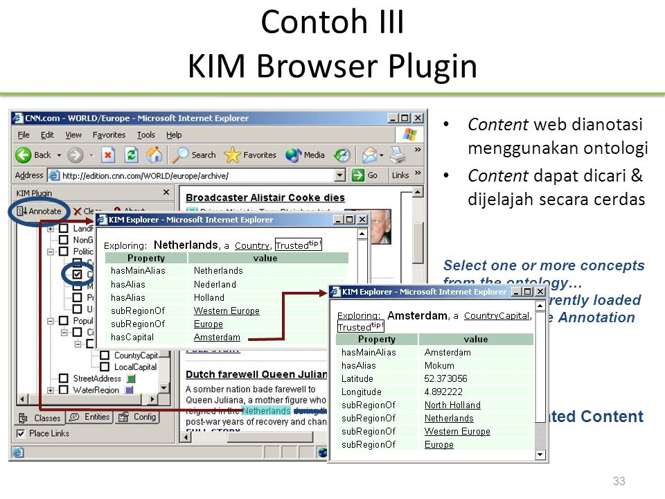 Contoh III KIM Browser Plugin