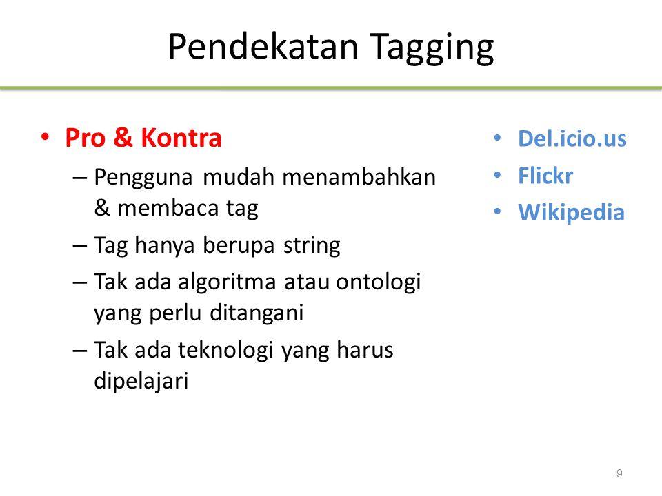 Pendekatan Tagging Pro & Kontra Del.icio.us