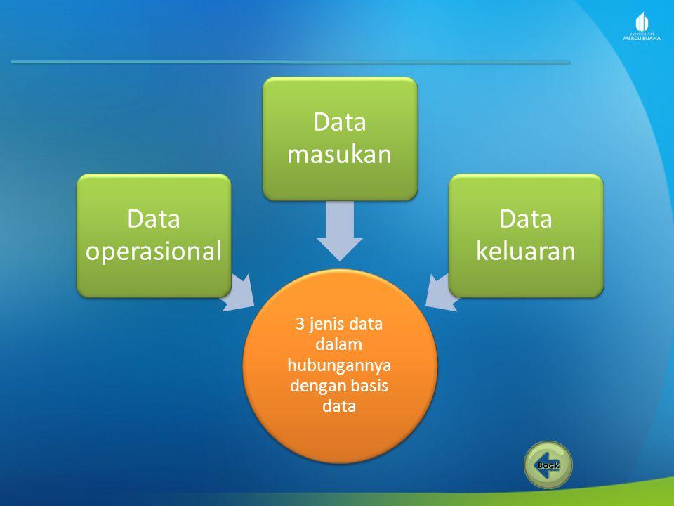 3 jenis data dalam hubungannya dengan basis data