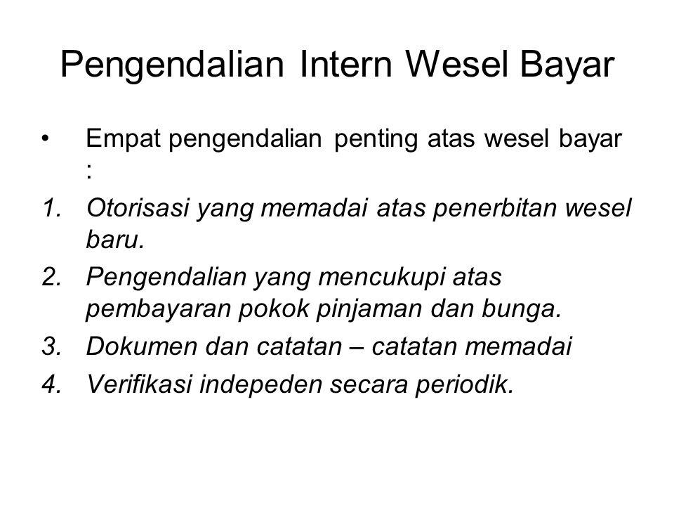 Pengendalian Intern Wesel Bayar