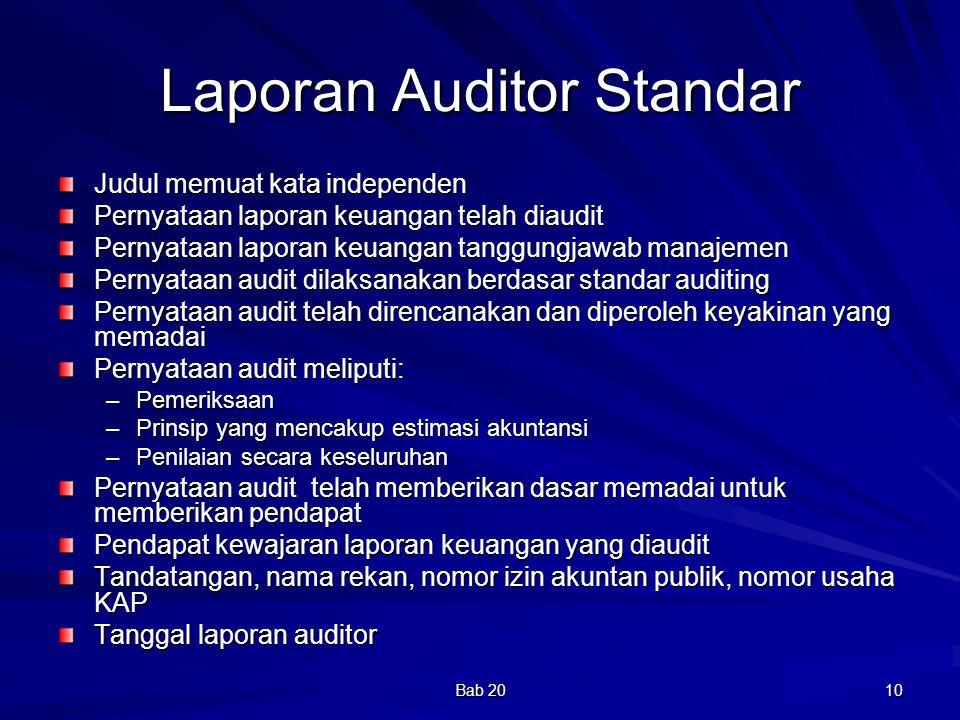 Laporan Auditor Standar