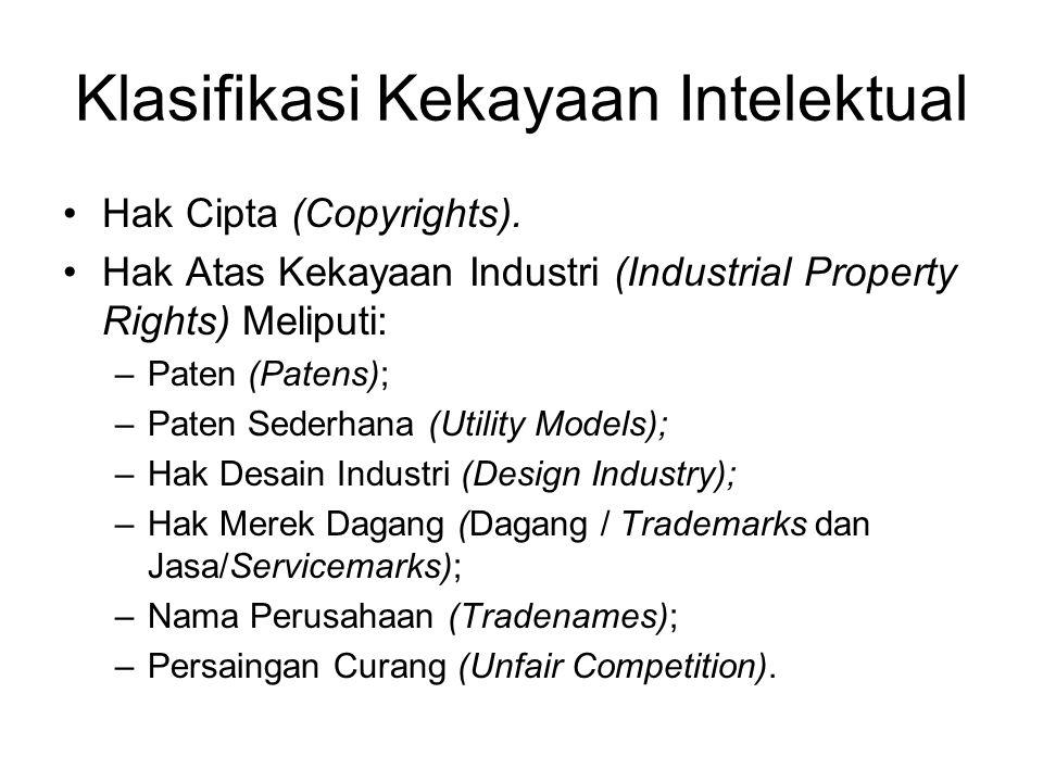 Klasifikasi Kekayaan Intelektual