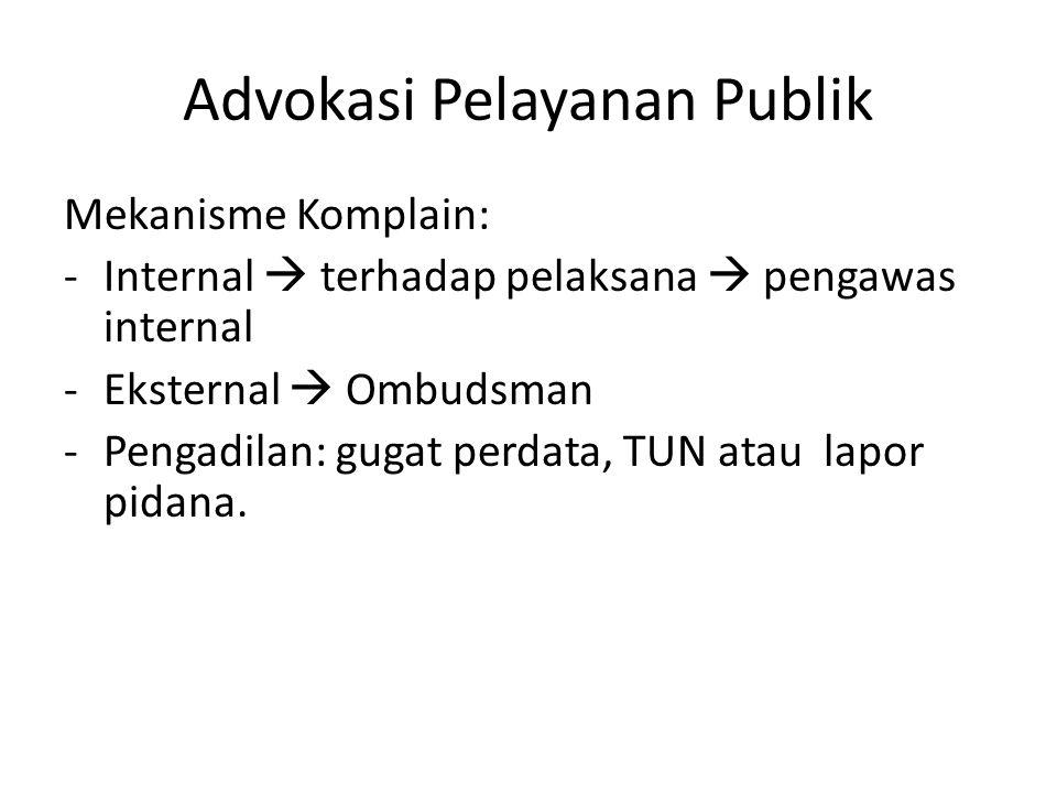Advokasi Pelayanan Publik
