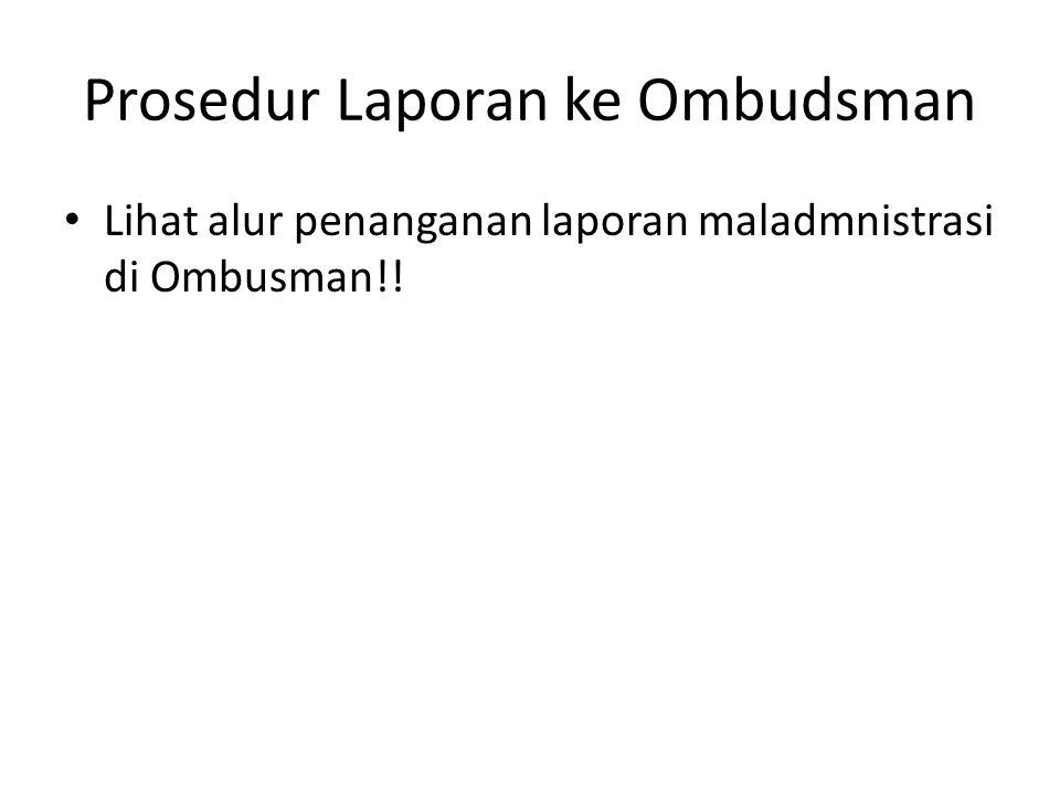Prosedur Laporan ke Ombudsman