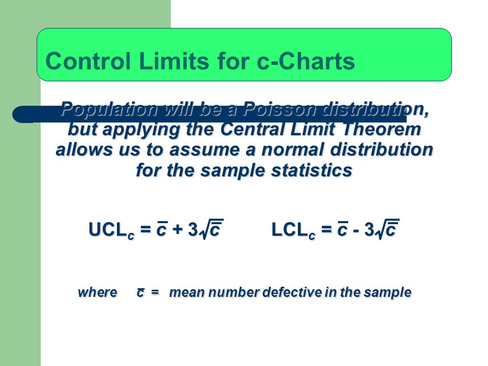 Control Limits for c-Charts