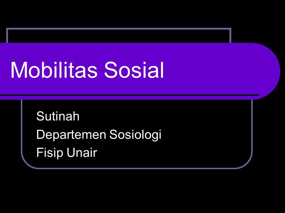 Sutinah Departemen Sosiologi Fisip Unair