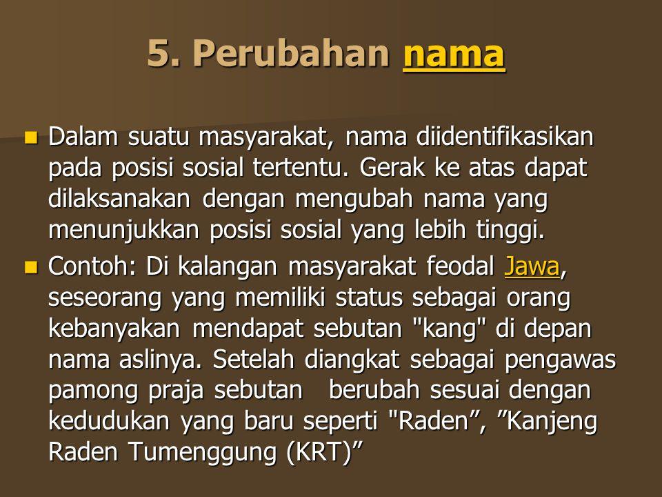 5. Perubahan nama