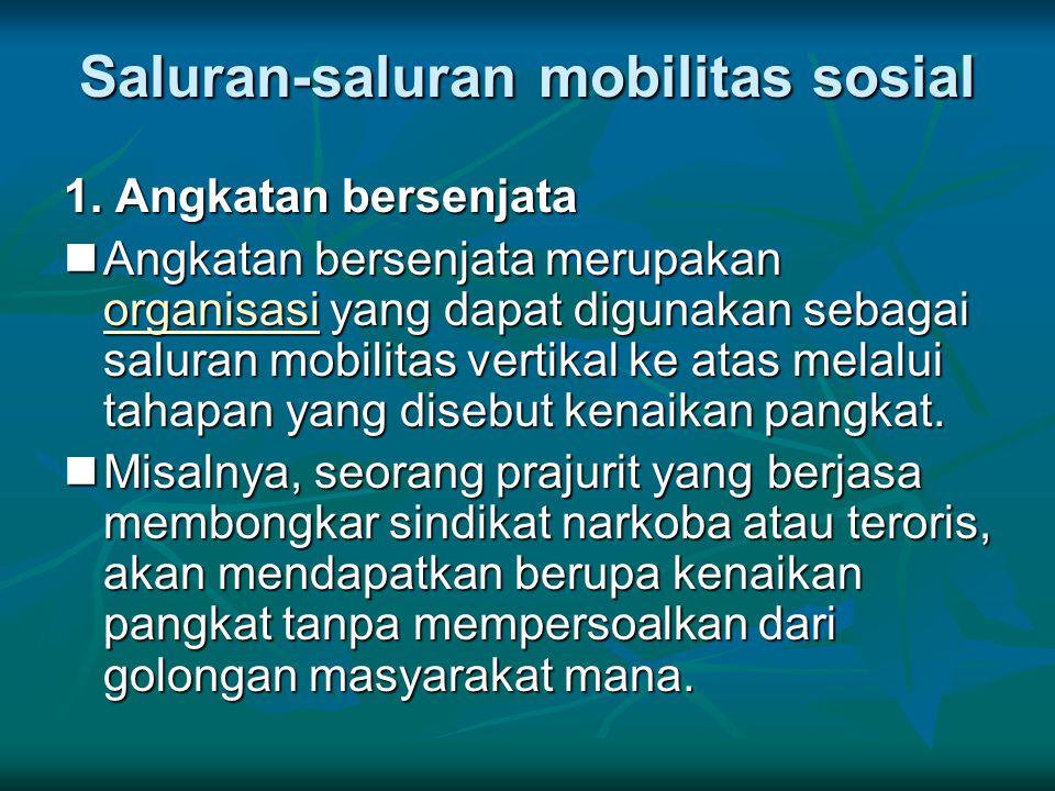 Saluran-saluran mobilitas sosial